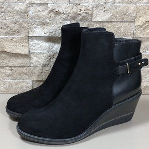 Cole Haan Women's Boots Wedge Ankle Black 8.5